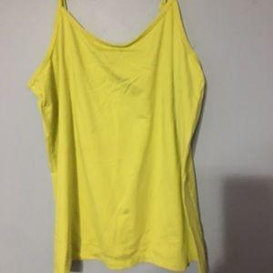 Lane Bryant Cami Neon Light Yellow Lime 14/16